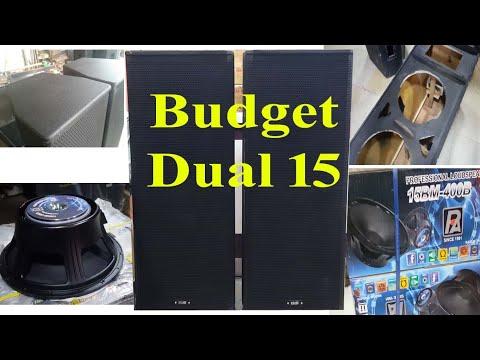 किफायती डबल 15 ईन्ची स्पीकर      Budget Dual 15