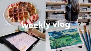 weekly vlog ☁️ | art stores, cooking, studying + more