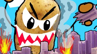 CITY DESTROYED BY POTATO!! | Drawing Your Comments