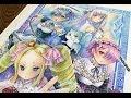 Watercolor Painting re:zero [ re:ゼロから / 水彩イラストメイキング]