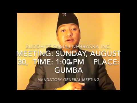Buddhist Samaj Nebraska Inc announcement