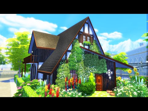 The Sims 4 Build |  Angled Roof Cottage