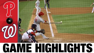 Phillies vs. Nationals Game Highlights (8/2/21)