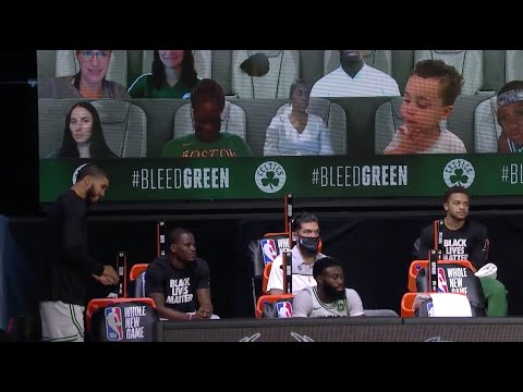 Jayson Tatum's Son Deuce Stays Up Past Bedtime To Say Hi During Celtics Game
