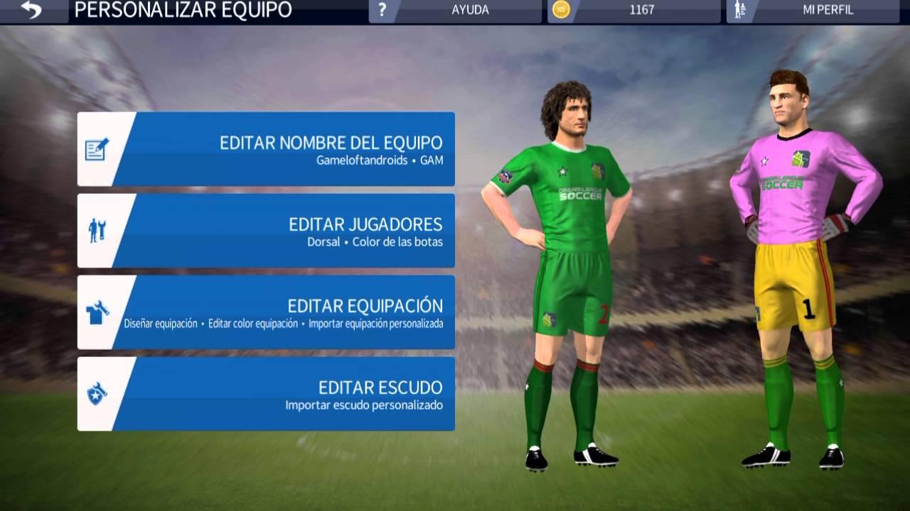 Personalizados al dream league soccer 2016 android y nombres youtube