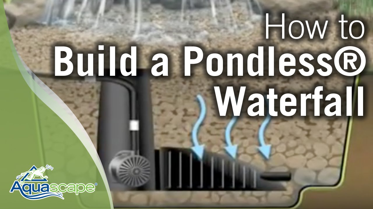 How To Build A Pondless Waterfall Aquascape Youtube