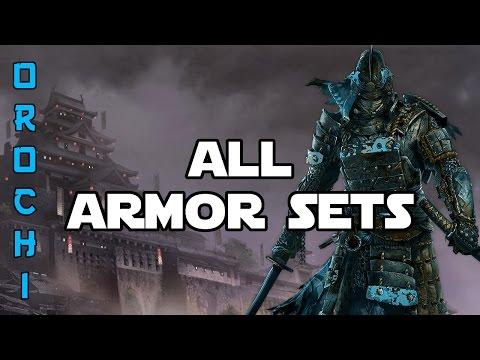 Grand Armor Set Revealing | All Orochi Armor Sets | For Honor