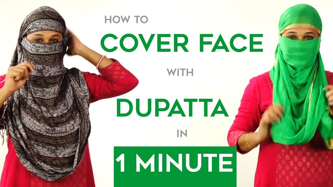 How to Wrap Face with Dupatta in Just 1 Minute - YouTube ec4376e2a7