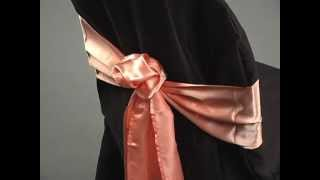 Sash Tying Tutorial: The Rose by LinenTablecloth
