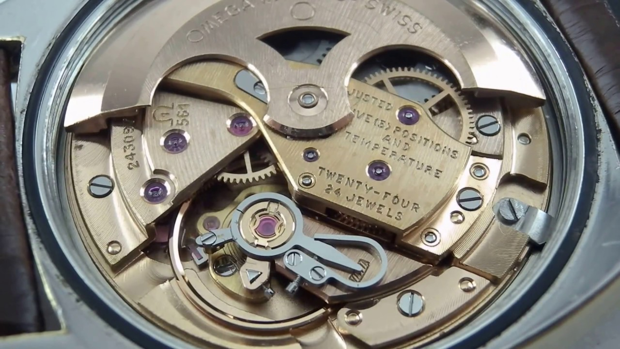 ff70c92e474 Om241 Omega constellation 168.017 cal.561 Running. - YouTube