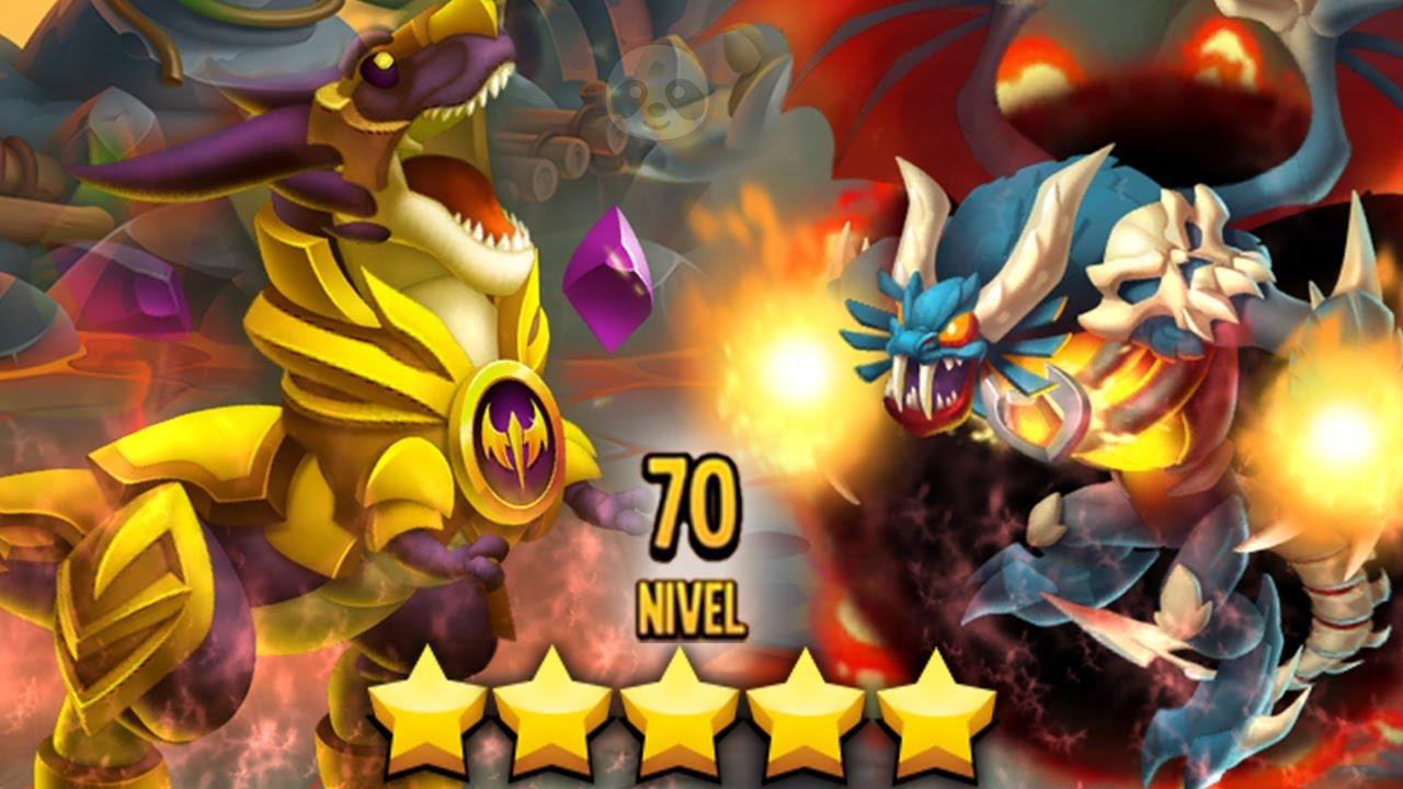¡MIS 2 NUEVOS DRAGONES TIRANO & VAMPIRO FURIOSO A NIVEL 70!😱 Dragon City