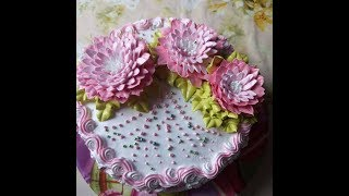 Торт с хризантемками))))Cake with chrysanthemums))))