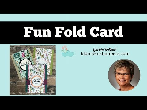 Fun Fold Card Using Share What You Love Designer Series Paper