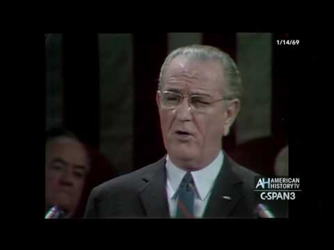 President Lyndon Johnson's final State of the Union Address 1969