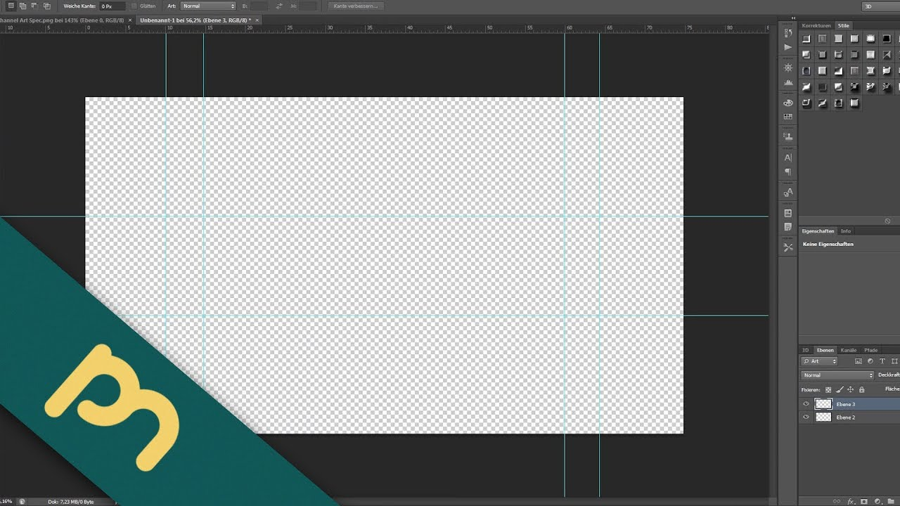 Adobe Photoshop CS6 Tutorial - Bannervorlage für das neue YT-Design ...