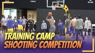 Lakers Training Camp: Shooting Competition LeBron, Kuz, Ingram, Lance vs Rondo, Beas, KCP, Javale