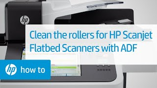 cleaning the rollers on hp scanjet flatbed scanners with an adf