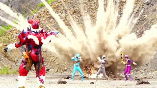 Power Ranger Dino Super Charge | Rangers vs Singe y Hunter - Capitulo 6
