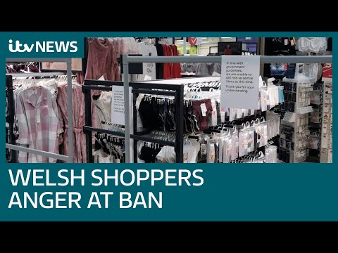 Covid: Anger in Wales over lockdown ban of non-essential items in supermarkets | ITV News