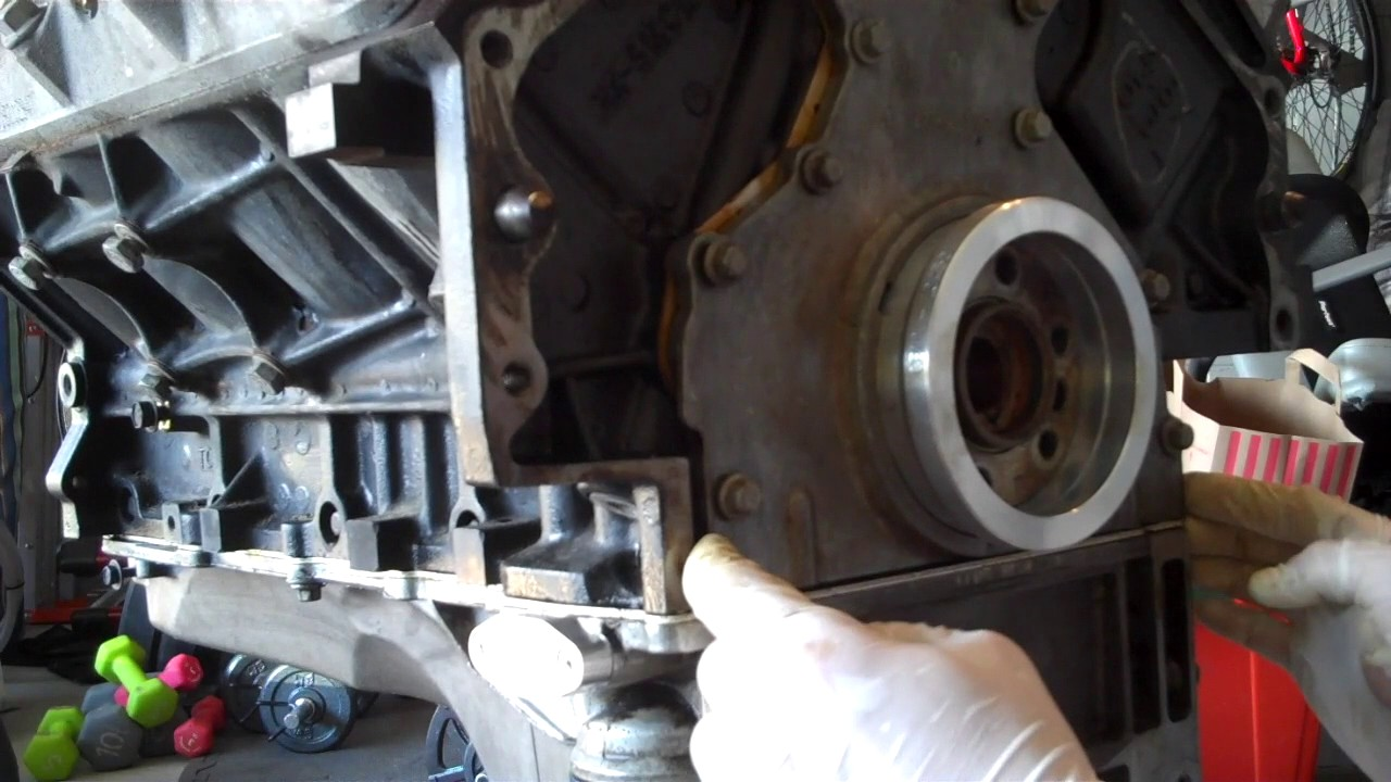 LS  Vortec Rear Main Seal Replacement  YouTube