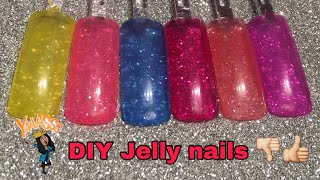 DIY: How to /Jelly nails gels. Easy and fast!💕
