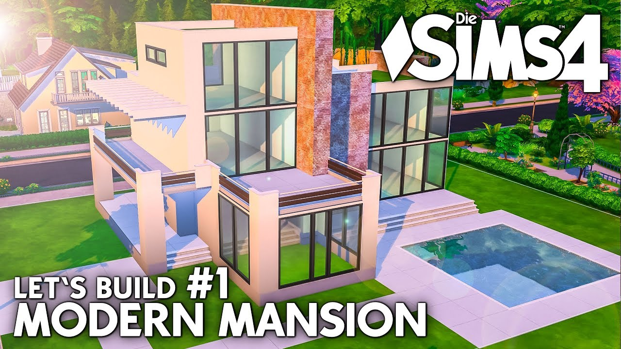 grundriss die sims 4 haus bauen modern mansion 1 deutsch youtube. Black Bedroom Furniture Sets. Home Design Ideas
