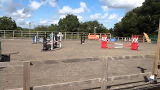 Rosie jumping round her first 90cm