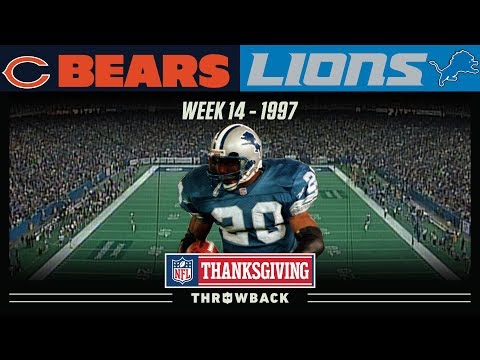 [Highlights] On this day in 1997: Barry Sanders runs for 176 yards and 3 touchdowns on Thanksgiving against the Bears. Barry Being Barry