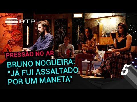 Bruno Nogueira: 'Já fui assaltado por um maneta' | 5 Para a Meia-Noite | RTP