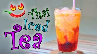 How To Make Thai Iced Tea Recipe Video - Restaurant Style Thai Ice Tea Drink - No Bubble Tea