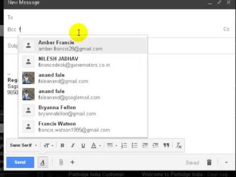 how to add bcc in gmail