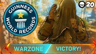 20 KILL KNIFE ONLY TRIO WIN!! (WARZONE WORLD RECORD)