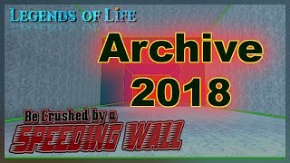 Archive 2018 ➤ Be Crushed by a Speeding Wall Codes ➤ Roblox