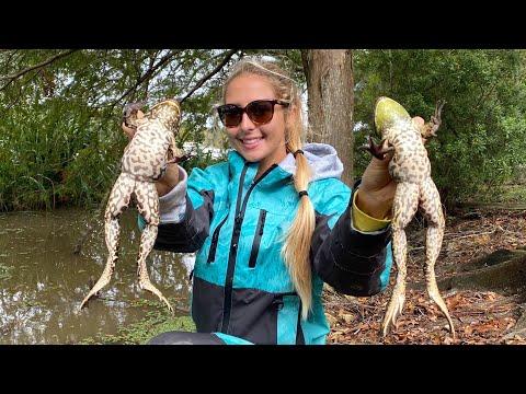 FROGGIN' In The Louisiana BAYOU Catch & Cook Frog Legs!