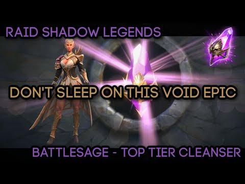 Battlesage - Top Tier Cleanser - Don't Sleep on This Epic Champ!! (Void 2x) | RAID: Shadow Legends