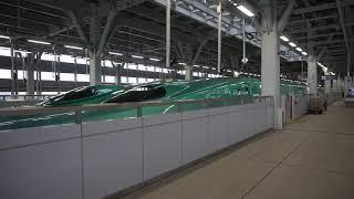 JR北海道北海道新幹線E5系 新函館北斗行はやぶさ25号 新青森駅発車