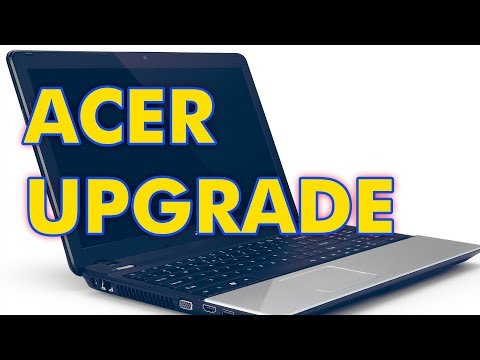 How to Upgrade RAM, SSD Drive on an Acer Aspire E1-571G Laptop