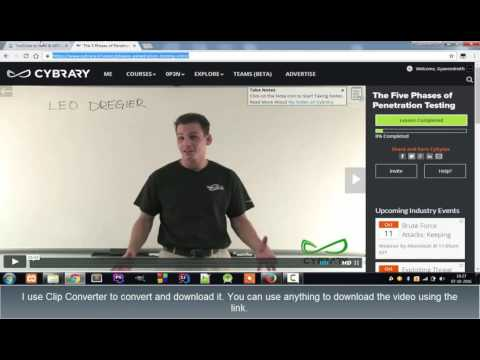 How to download video from Cybrary.it