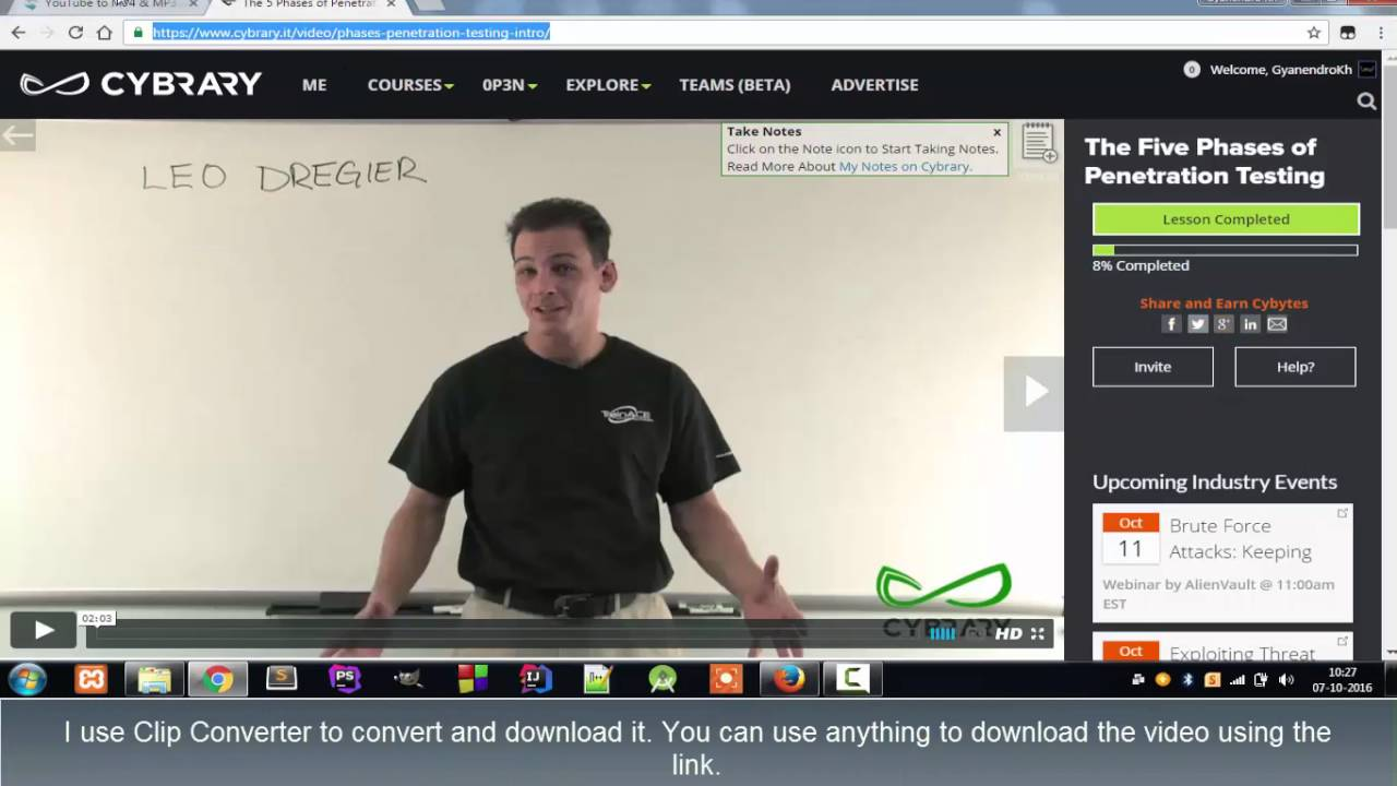 how to download cybrary it videos