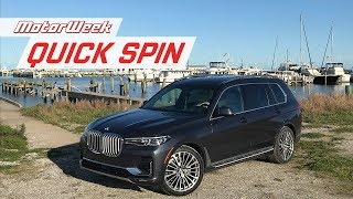 2019 BMW X7 | MotorWeek Quick Spin