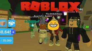 Mining Simulator em um server com Youtubers - Roblox
