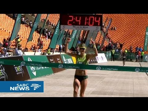 Irvette van Zyl wins the 2017 Old Mutual Soweto Marathon