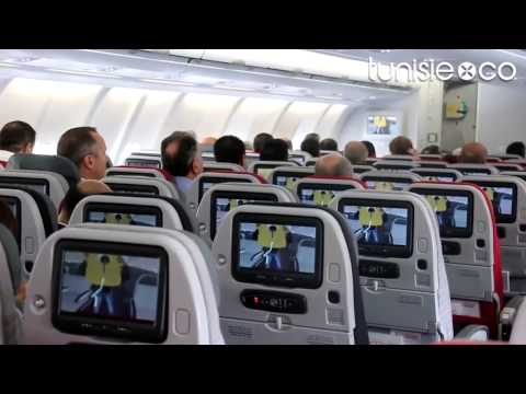 Découvrez l'intérieur et les options du nouveau A330 de Tunisair