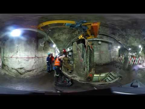 RMG When the Dust Settles Underground in a South African gold mine 360 footage