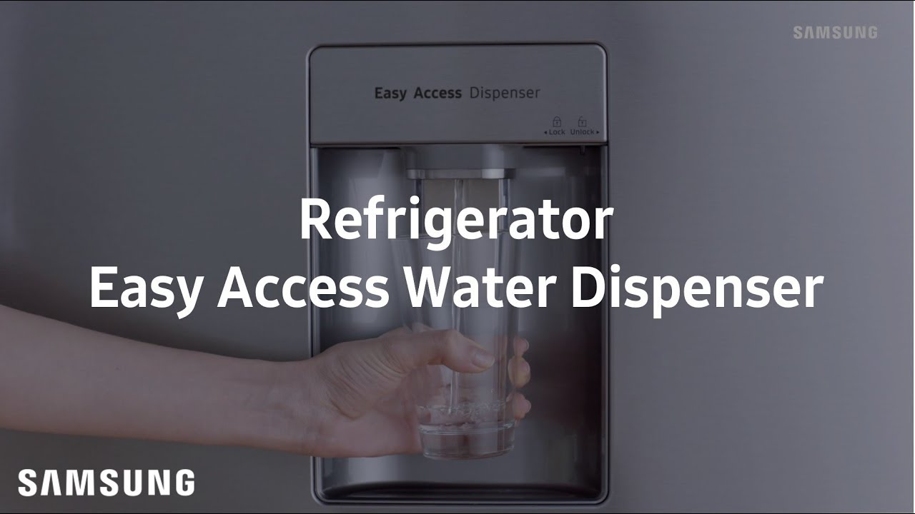 Samsung Top Freezer Refrigerator Easy Access Water Dispenser Youtube Rsa1stsl1xse Kulkas Side By