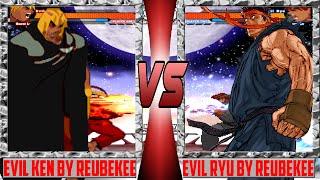 [Mugen 1.1 HD] Evil Ken (Reubenkee) vs. Evil Ryu (Reubenkee)