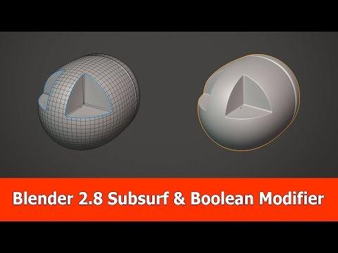 Blender 2.8 Subsurf & Boolean Modifier Tutorial