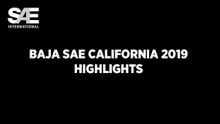 Baja SAE California 2019 Highlights