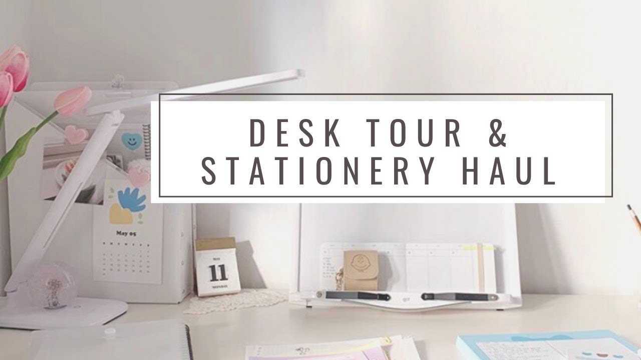 Desk tour & Stationery haul! /Lettering, calligraphy, bullet journal, notebook collection...