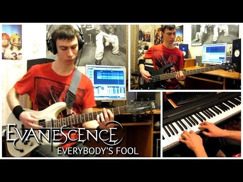 Evanescence - Everybody's Fool (Guitar, Bass and Piano Cover by ILya Heifetz)